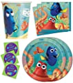 Finding Dory Birthday Party Supplies Set Plates Napkins Cups Tableware Kit for 16 Plus Stickers