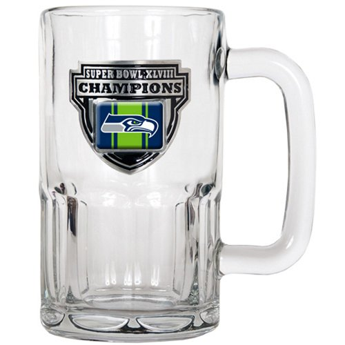 NFL Seattle Seahawks Super Bowl Champ Root Beer Mug, 20-Ounce at Amazon.com