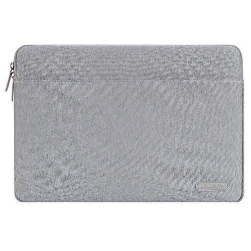 Mosiso ラップトップケース 13-13.3インチ スリーブケース ポリエステル製 iPad Pro 12.9/ ラップトップ/ ノートブック / MacBook Air 13/ MacBook Pro 13 用(グレー)