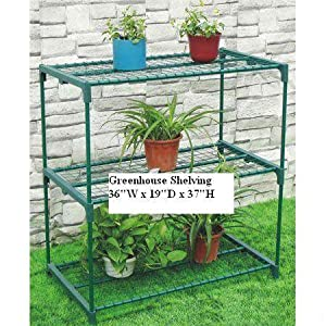 3 Tier Greenhouse Shelving Staging Plant