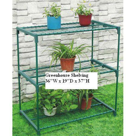 3 tier greenhouse shelving staging home and garden. Black Bedroom Furniture Sets. Home Design Ideas