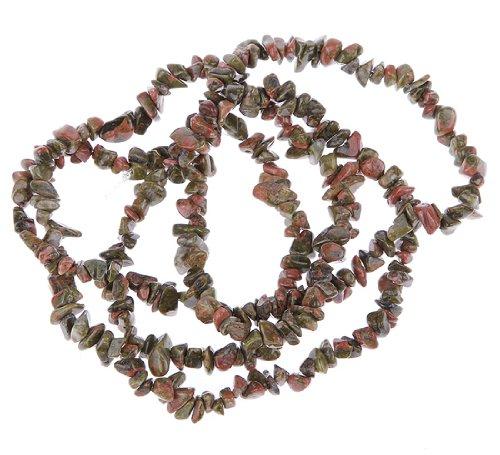 Eozy 35'' Flower Stone Beads Natural Chips Loose Beads Tumbled Gemstone Freeform DIY Beads