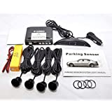 Silver Wireless Car reversing parking Four 4 rear sensors with Colour LED displayer