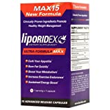 Liporidex MAX15 w/ Green Coffee - Ultra Formula Thermogenic Weight Loss Supplement Fat Burner Metabolism Booster & Appetite Suppressant - The easy way to lose weight fast! - 72 diet pills - 1 Box.