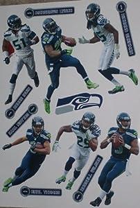 Seattle Seahawks FATHEAD Set of 13 Vinyl Wall Graphics - Wilson, Sherman, Lynch,... by Fathead