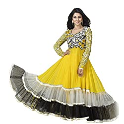 Rozdeal Women Georgette Salwar Suit Dress Material (Rdhp104-2003 _Yellow _Free Size)
