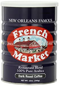 French Market Coffee, Dark Roast, 12-Ounce Cans (Pack of 3)