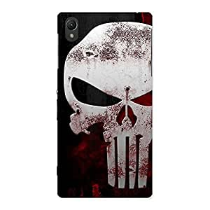 Cute Bleed Red Skull Back Case Cover for Sony Xperia Z1