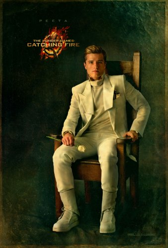 "Hunger Games: Catching Fire (2013) Movie Poster Reprint 13"" x 19"" Borderless SHIPS FLAT! Peeta"