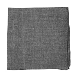 100% Cotton Classic Chambray Soft Gray Pocket Square