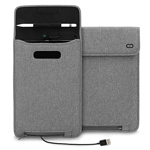 Lowest Price! iPad Pro 9.7 Case, CaseCrown Power Sleeve w/ Apple Pencil Holder Slot & MFI Certified ...