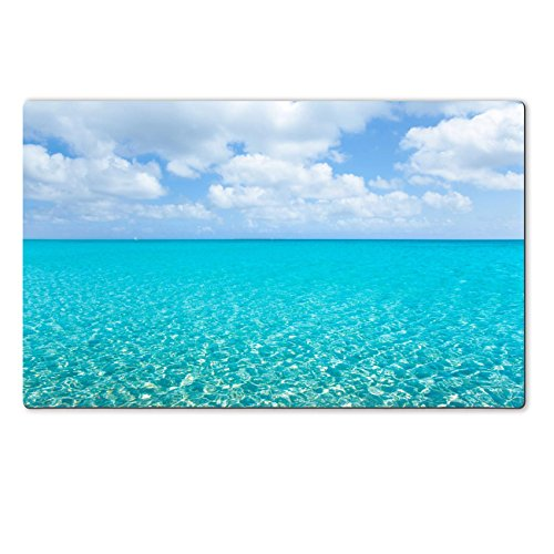 Liili Large Table Mat 28.4 x 17.7 x 0.2 inches beach tropical with white sand and turquoise water under blue sky IMAGE ID 14274569 (Tropical Island Water Table compare prices)