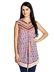 Fusion Beats Women's Tunic Top (E515AAYU06M WHITE_L)