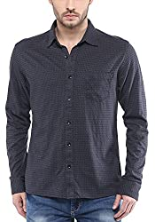 Mufti Mens Grey Slim Fit Shirt