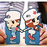 GHK - His-and-hers Clothing Naval Uniform Silicon Case for iPhone 4/4S , C