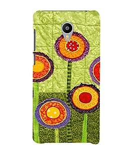 PrintVisa Flower Design Art 3D Hard Polycarbonate Designer Back Case Cover for Meizu M2 Note