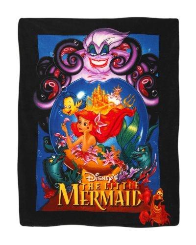 Disney The Little Mermaid Movie Poster Super Plush Throw Cuddly Blanket front-104575