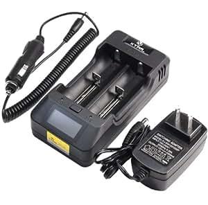 【2014 XTAR VP2 インテリジェント 高速充電器 フルセット (16340~18650/18700/26650 : 2年間保証)】