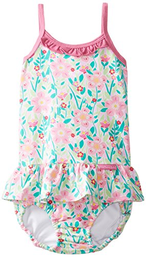 Jojo Maman Bebe Baby-Girls Newborn Swim Bubble, Tropical, 6-12 Months front-520714