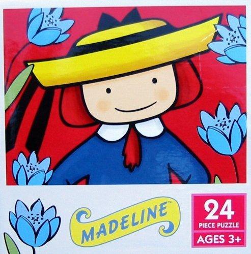 24 Piece Madeline In Her Flower Garden Puzzle - 1