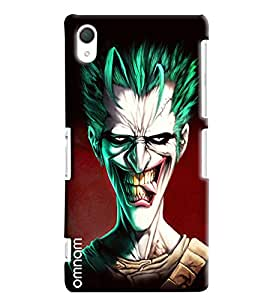 Omnam Annoyed Cartoon With Smiling Looks Designer Back Cover Case For Sony Xperia Z2