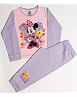 Girls Disney Minnie Mouse Flower Snuggle Fit Pyjamas Age 12 Months to 4 Years