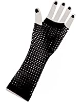80's Long Fishnet Adult Gloves - Funny Party Hats TM