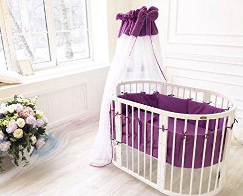 ComfortBaby--erweiterbares-Babybett-Kinderbett-SmartGrow-7in1-aus-MASSIVHOLZ-in-weiss-multifunktional-nutzbar-als-Laufstall-Beistellbett-Minibett-Stuhl-und-Tisch-Kombination-violet