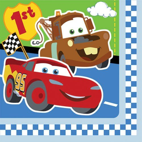 Cars 1st Birthday Large Napkins (16ct)