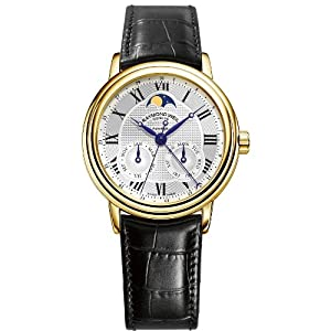 Raymond Weil Maestro Automatic, Moon Phase, Month, Day and Date Fuction Men Watch 12849-G-00659