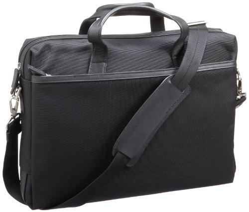 Jack Georges   Leather Trimmed Laptop Case,Black,One Size Jack Georges Nylon Briefcase