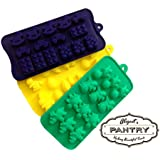 Candy, Chocolate & Jelly Molds - Set of 3 - Kids Edition (Strong Silicone) - Abigail's Pantry Confectionery Supplies