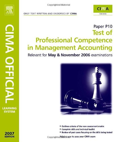 CIMA Learning System Test of Professional Competence in Management Accounting