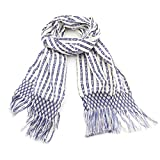 Small White & Blue Rebozo Scarf