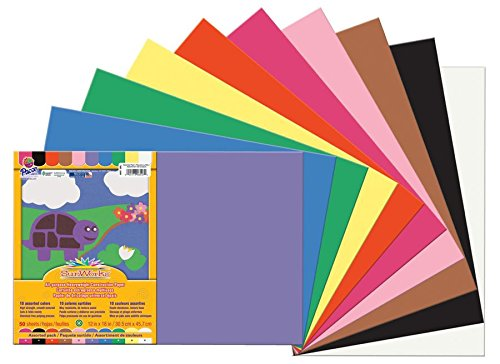 "SunWorks Construction Paper, 12""X18"", Assorted, 50 Sheets - 1"