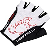 Castelli Rosso Corsa Classic Gloves White/Black, S - Men's by Castelli [並行輸入品]