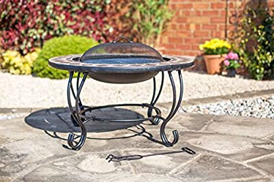 2nd Mosaic Style 76cm Diameter Fire Pit Bbq Table All In One