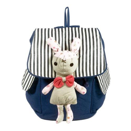 [Sweet Rabbit] 100% Cotton Fabric Art School Backpack / Outdoor Backpack front-920498