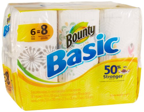 Bounty Basic Big Roll Paper Towels Prints 6 Count Your