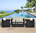Outsunny 4pc Outdoor Rattan Wicker So...