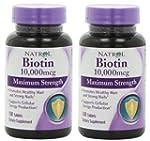 Natrol Biotin 10,000mcg, Maximum Stre...