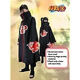 Japanese Anime Naruto Cosplay Costume - Akatsuki Ninja Uchiha Itachi Cloak