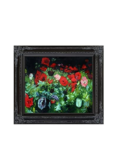 John Singer Sargent's Poppies Framed Hand Painted Oil on Canvas, Multi, 28″ x 32″