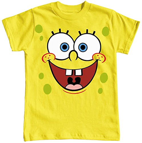 [Spongebob Squarepants Boys Sizes 4-16 Big Face T Shirt (XL (14/16))] (Spongebob Outfit)