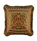 Austin Horn Classics Botticelli Fancy Pillow, 20-Inch, Rust