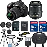 Nikon D5300 DSLR Camera Body w/ Nikon 18-55mm VR Lens +HD U.V. Filter +6pc Starter Kit +2pcs 16GB Commander Extremespeed...