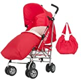 Obaby Atlas Stroller Bundle (Red Scribble)