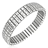 New Gents Stainless Steel Stretchable Bracelet, Length 18 - 24cms.