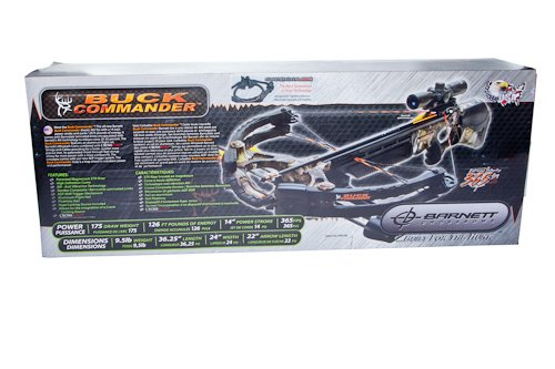 Barnett Buck Commander CRT Crossbow Package (Quiver, 4 - 22-Inch Arrows and Illuminated 3x32mm Scope)