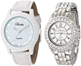 Breda Women's 7223-white.1625-silver Simple Sleek Work & Play Watch Set